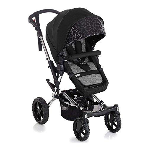 Jané Crosswalk Convert - Silla de paseo convertible en capazo, de 0 a 15 kg, chasis de aluminio de 10,5 kg, plegado compacto, sistema pro-fix apto para portabebés jané, unisex