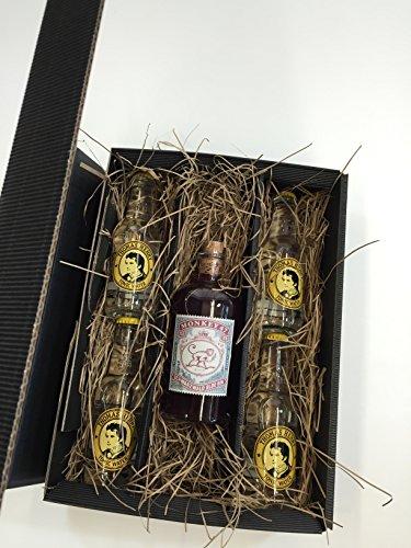 Monkey 47 Gin Tonic Set / Geschenkset - Monkey 47 Schwarzwald Sloe Gin 500ml (29% Vol) + 4x Thomas Henry Tonic Water 200ml