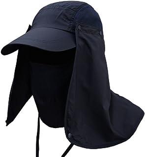 Academyus Outdoors Sports Sun Resistant Neck Face Wide Brim Flap Cap Hiking  Fishing Hat 95c726d209f4