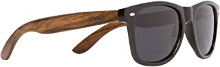 Wooden Sunglasses with Black Polarized Lens in Walnut...