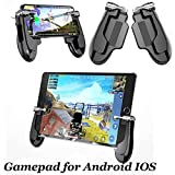 Mobile Game Controller for iPad, 2 in 1 Tablet Gamepad Sensitive Shoot Aim Fire Triggers with 2 Joysticks for PUBG/Rules of Survival/Knives Out Fits Smartphone and Tablet (5.5 Inch+)