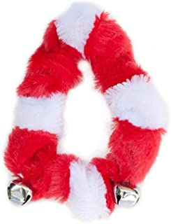 ZippyPaws Holiday Santa Collar with Bells - Christmas Dog Accessory (3 Sizes)