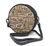BAODANLA Bolso redondo mujer Round Crossbody Bag Rustic Wilderness Handbag Purse Single Shoulder Bag Sling Bag