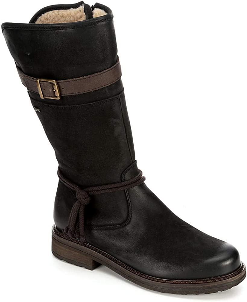 Highland Creek Womens Water Repllent Mid Calf Leather Boot Shoes