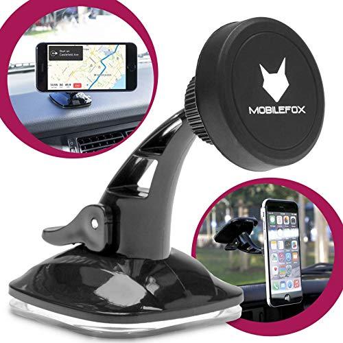MOBILEFOX 360° Universal KFZ Magnet Armaturenbrett Handy Smartphone Auto Halter Halterung für Apple Samsung Huawei Sony LG Motorola Microsoft Nokia