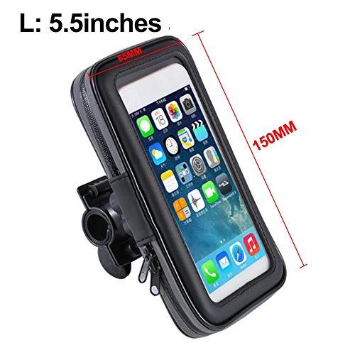 Funihut Waterdichte tas voor fiets, telefoonhoes, voor e-mobiele telefoons, voor motorfiets L