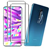 [2 +2 Pack] For OnePlus 7 Pro Screen Protector + Camera Lens Protectors, HD Anti - Scratch 3D Glass Screen Protector for Oneplus 7 Pro
