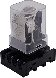 AiCheaX/JTX-2C, MK2P-I DPDT Power Relay with Plug-in Terminal Socket Base, DC 24V Coil, 8 Pin 2NO 2NC (Quality Assurance f...