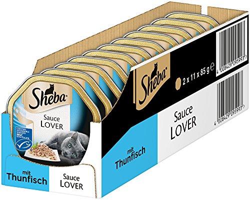 Sheba, Cibo per Gatti Sauce Lover, alimento Umido di Alta qualità Senza coloranti Artificiali e conservanti