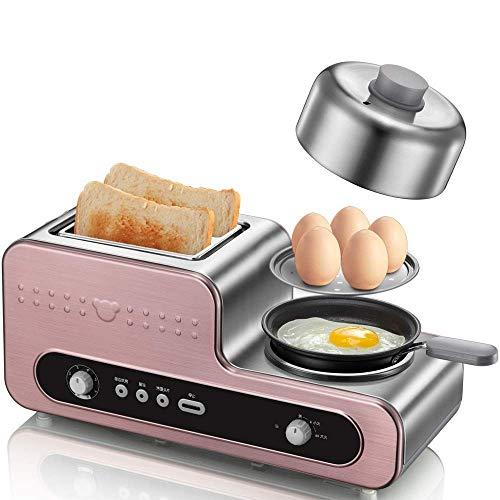 3-in-1 Toaster Ovens, Mijn familie Ontbijt Station, Ontbijt Machine, gegrilde Broodrooster, gekookt ei, Omelet, roestvrij staal, externe Grill