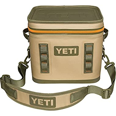 YETI Hopper Flip Portable Cooler (Flip 12 Field Tan / Blaze Orange)