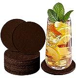 jojobnj Filz Untersetzer Rund für Gläser - 12er Set, mit Aufbewahrungsbox für Getränke, Tassen, Bar, Glas - Premium Tischuntersetzer Filzuntersetzer