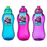 3300ml de sistema Twist N Sip–Botella, Azul, Rosa, Púrpura