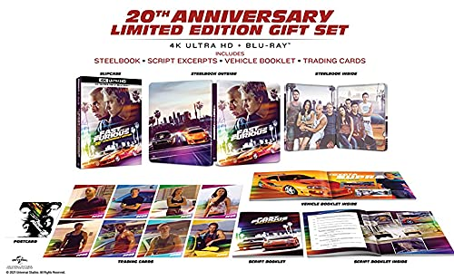 The Fast and the Furious 4K - 20th Anniversary Limited Steelbook Full-Slip Gift Set Box Edition (Steelbook im Schuber) 4K Ultra HD UHD + Blu-ray
