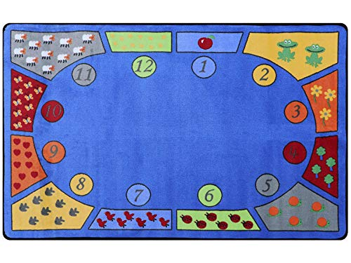 Primaflor - Ideen in Textil Kinderteppich Lern-Teppich Spielteppich - Bilder & Zahlen, 120x180 cm, Qualitätsteppich zum Zahlen Lernen