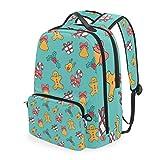 Rucksack mit weihnachtlichem Muster, Lebkuchen-Kekse, abnehmbar, für Studenten, Schule, Freizeit, Reisen, Wandern, Camping, Laptop, Tagesrucksack