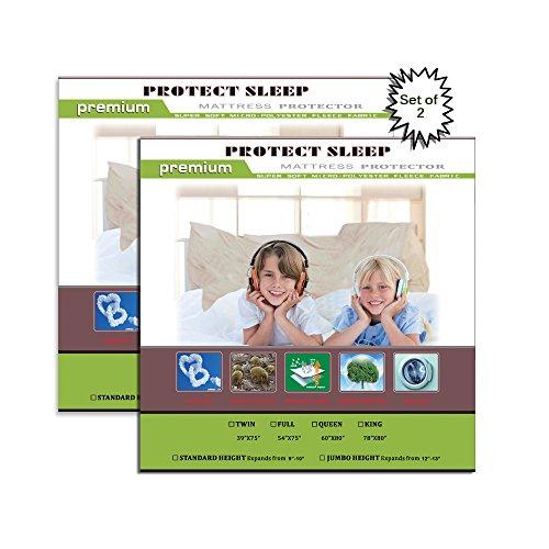 Continental Sleep BBP2-3/3 7-10 - Funda Protectora para colchón con Cierre de Muelle Que se Adapta a colchones de 7-10 Pulgadas, Blanco, Matrimonio