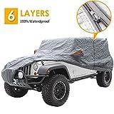 Big Ant - Funda para coche 100 % resistente al agua, para Jeep Wrangler CJ, YJ, TJ y JK de 4 puertas/SUV (490 x 165 x 165 cm)