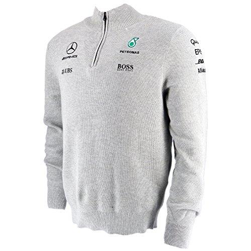 Mercedes AMG F1 Replica Team Puma Half Zip Sweatshirt Grau M