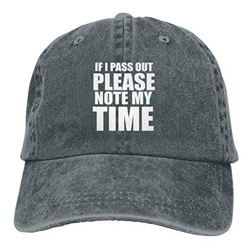 Hoswee Unisex Baseball Caps/Trucker Cap, Als ik doorgeef Let op mijn tijd Cowboy Cap Dad Baseball Hoeden Deep Heather