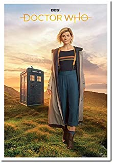 Doctor Who 13th Doctor Jodie Whittaker Poster Cork Pin Memo Board White Framed - 96.5 x 66 cms (Approx 38 x 26 inches)