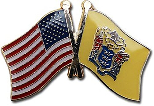 Wholesale Pack of 3 USA American State New Jersey Flag Bike Hat Cap lapel Pin