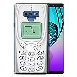 Stuff4 Coque Gel TPU de Coque pour Samsung Galaxy Note 9/N960 / Nokia 3310 Blanc Design/Portables rétro Collection