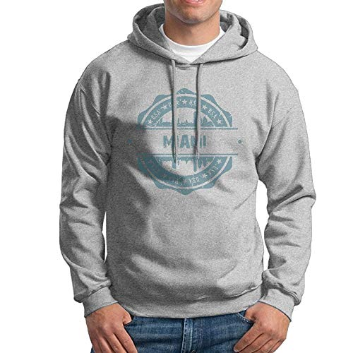 SDFGSE Men's Miami Hoodies Hooded Sweatshirt Pullover Sweater, Long Sleeves Hooded Bodysuits Tops M