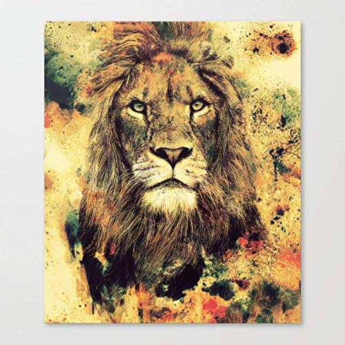 mlpnko lion Paint By Numbers for Kids & Adults & Beginner, DIY Oil Painting Gift Kits Pre-Printed30x40cm DIY FRAME