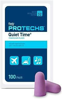 Flents Protechs Quiet Time Ear Plugs, 100 Pair, Ear Plugs for Loud Noise, Traveling, Concerts, NRR 32, Purple