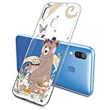 Oihxse Funda Dibujos Animal Lindo Compatible Samsung Galaxy Elefante 10/Pingüinos0 Carcasa Transparente Clear Silicona TPU Gel Suave Case Ultra Slim Anti-Golpes Anti-Arañazos Protection Cover(Oso 1)