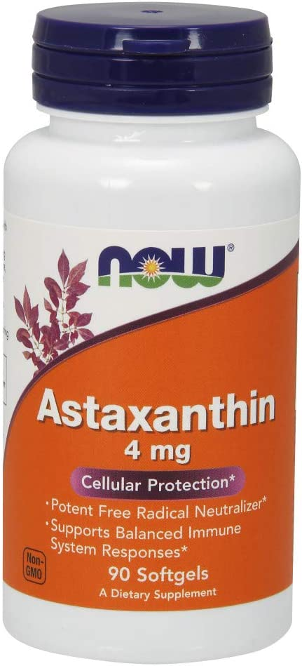 NOW Supplements Astaxanthin 4 mg Haematoco from Seasonal Wrap Introduction Non-GMO OFFicial mail order derived