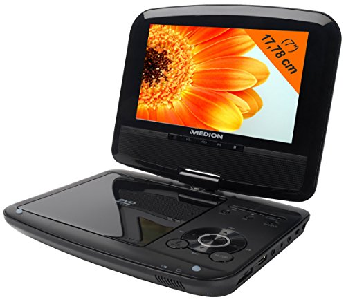 Medion 50044666 LIFE P72066 Portable DVD-Player mit DVBT-T Tuner (17,8 cm (7 Zoll) LCD-Display, USB 2.0)