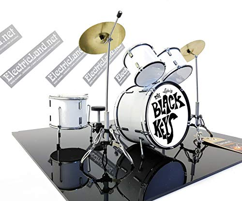 Mini Drum Kit Ludwig Black KEYS Tribute Miniature Rock 25 cm Model...