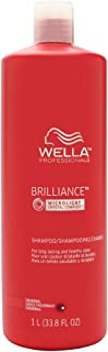 Wella Brilliance Shampoo For Fine to Normal Colored Hair, 1014 ml