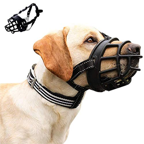 LTDD Breathable Silicone Dog Muzzle, Secure Design, Soft Comfortable Dog Muzzle, for Dogs, Breathable Mouth Cover and Adjustable Straps, Anti-Biting, Barking and Chewing.3