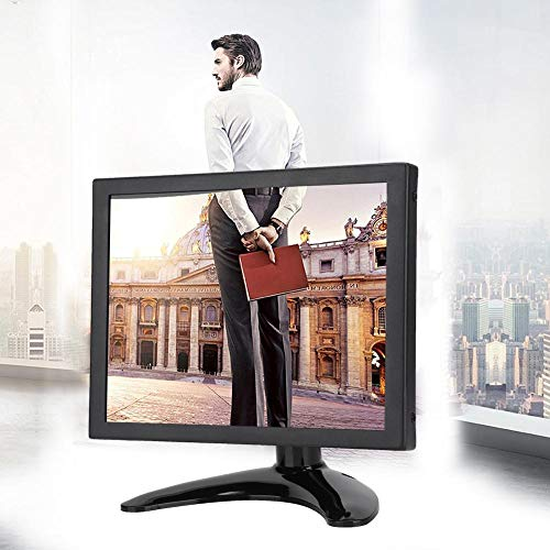 8 inch embedded monitor, 4: 3 1024 x 768 BNC VGA AV-scherm met hoge resolutie Draagbare Raspberry Pi-monitor voor pc, tv, CCTV, camera, beveiliging, computer, drone(EU-stekker)