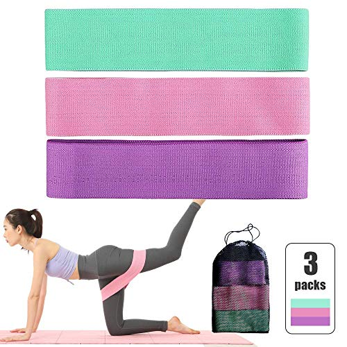 LYTLD 3 PC Sports Exercise Widerstandsschleife Bands Set Elastic Booty Band Set Yoga Home Gym Trainings-Widerstand-Bands Fitnessgeräte