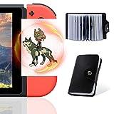 NFC Cards for The Legend of Zelda Breath of The Wild Botw Switch Wii U con artículos de gota en la parte posterior de la tarjeta, 24 piezas con soporte para tarjetas (tamaño estándar ZLD-02)