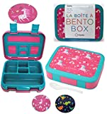 Unicorn Bento Lunch Box for Girls Toddlers, 5 Portion Control Sections, BPA Free Removable Plastic...
