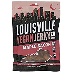 Louisville Vegan Jerky - Maple Bacon, Vegetarian and Vegan Friendly Jerky, 21 Grams of Non-GMO Soy P