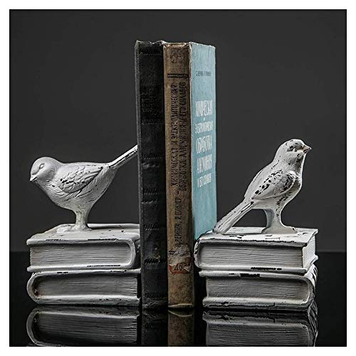 WJJ Estanteria Libros Sujetalibros con Forma De Ave Nórdicos Soporte Documentos De Habitaciones Creativo Decorativo Home Living Libros Unidad Craft Estudio Adornos 19.5x14x11.5cm Almacenamiento