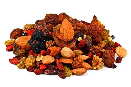 Himalaya Mix Mezcla de frutos secos orgánicos Fairtrade 700g BIO, de comercio justo, exquisita mezcla de frutos secos y nueces nobles, Vegan 7x100g