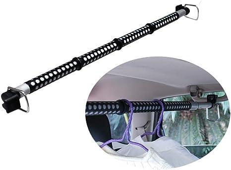 Erweiterbare Kleiderbügelstange Für Autos Hochleistungs Auto Kleiderbügel Aus Metall Erweitert Auf 63 Zoll Für Die Meisten Autos Lkws Suvs Vans Und Wohnmobile Geeignet Black Küche Haushalt