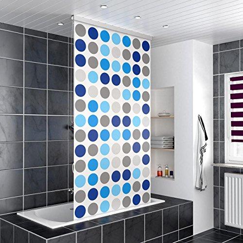 Homelux Duschrollo Duschvorhang Bad Deckenbefestigung Halbkassette Seitenzug Links oder rechts montierbar 140 x 200 cm Bambus