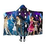 GBCC High School Musical Couvertures à capuche douillettes chaudes super douces pour regarder la télévision sur le lit ou le canapé 101,6 cm x 50 cm