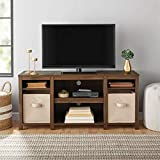 Mainstay Parsons Cubby TV Stand Holds Up to 50' TV - Black Oak (Walnut (TV Stand ONLY))