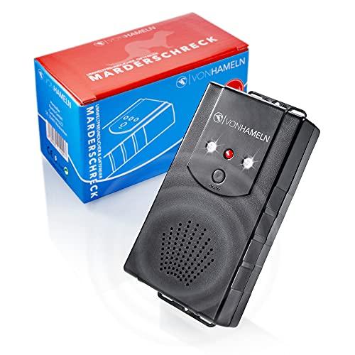 VON HAMELN® mobiler Marderschreck Auto, Haus, Dachboden, Garten - Anschluss an Autobatterie, per USB oder Batteriebetrieb möglich - Marder Abwehr mit Blitzlicht
