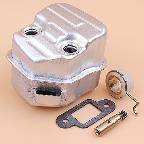 Kit de engranaje helicoidal de bomba de aceite de silenciador de escape apto para STIHL MS171 MS181 MS181C MS 181171 piezas de motosierra de gasolina # 1139140 0604
