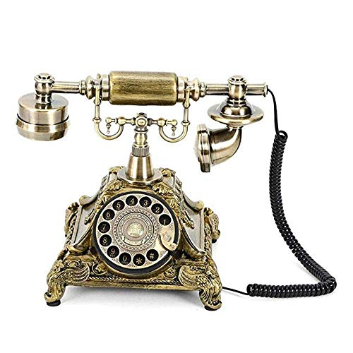 Sxrdz Teléfono fijo para el hogar EUROPEO ANTIGUO TELÉFONO TELÉFONO ROTARIO TELEFONOS DE TELÉFONO RETRO TELÉFONO DE ESCRITORES DE LANZARIO, TELÉFONO DE CORDADA PARA HOGAR Y DECORA, Teléfonos retro cre
